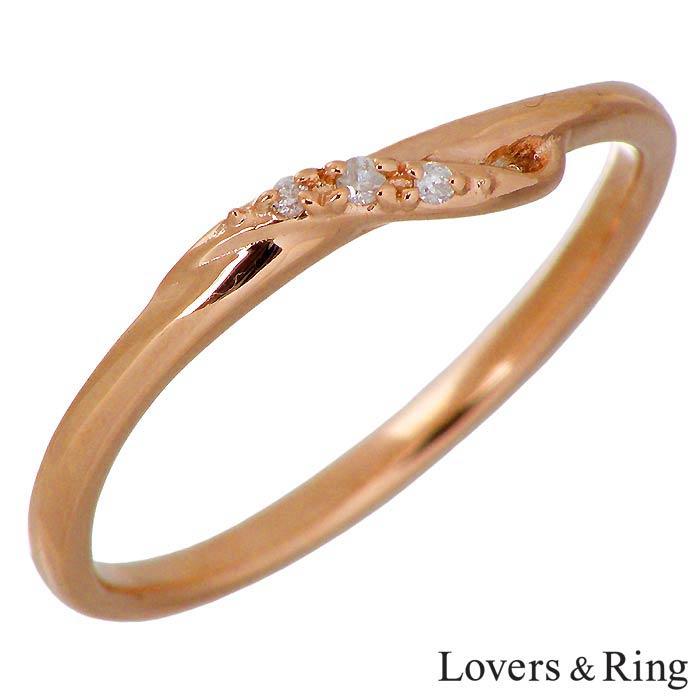 Lovers & Ring【ラバーズリング】K10 ピンクゴールド リング 指輪 ダイヤモンド レディース 5~15号 LSR-0665DPK