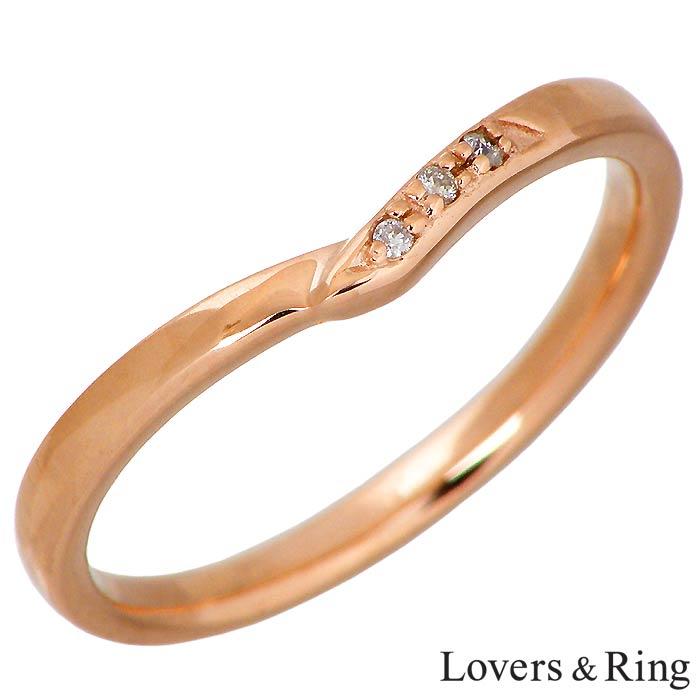 ラバーズリング Lovers & Ring K10 ピンクゴールド リング 指輪 アクセサリー ダイヤモンド レディース 5~15号 LSR-0666DPK