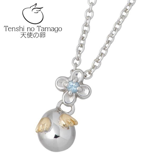 Tenshi no Tamago【天使の卵】 天使の卵 永遠の花 Petit シルバー ネックレス アクセサリー 天使1142BT ブルートパーズ シルバー925 スターリングシルバー シルバー950 tenshi-1142BT