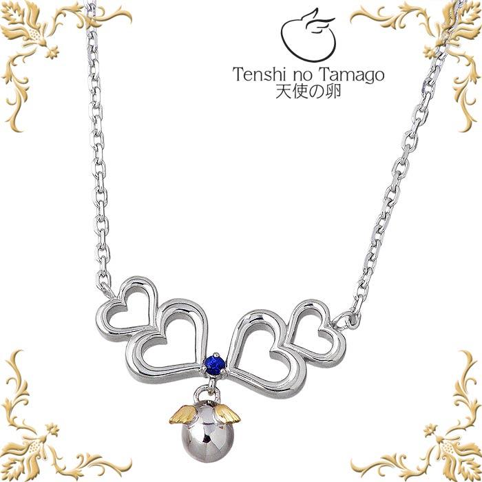 天使の卵【Tenshi no Tamago】サファイア ハート シルバー ネックレス レディース tenshi-1185BS