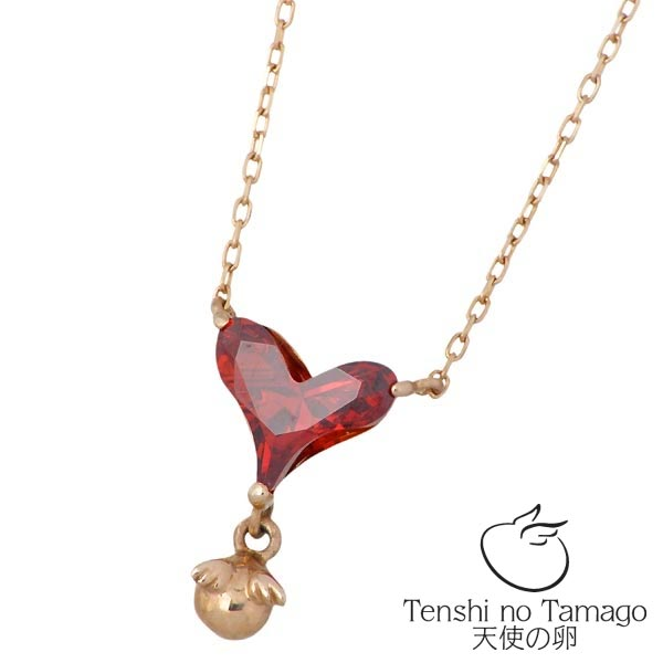 Tenshi no Tamago【天使の卵】 天使の卵 K10 ピンクゴールド ネックレス アクセサリー 天使1713CZ キュービック ハート tenshi-1713CZ