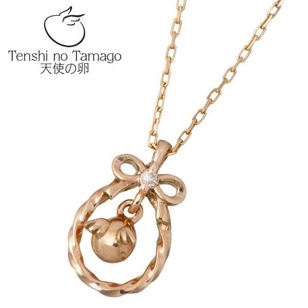 天使の卵 Tenshi no Tamago 天使の卵 K10 ピンクゴールド ネックレス アクセサリー 天使1714D ダイヤモンド リボン tenshi-1714D