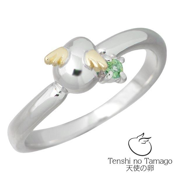 Tenshi no Tamago【天使の卵】 天使の卵 バースデー シルバー リング ロジウム加工 天使2119EMRM 5月誕生石付き エメラルド 指輪 アクセサリー 7~15号 シルバー925 スターリングシルバー シルバー950 tenshi-2119EMRM