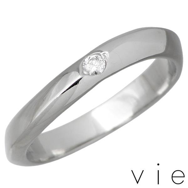 vie【ヴィー】ダイヤモンド ステンレス リング 金属アレルギー対応 指輪 レディース 7~15号 アレルギーフリー 刻印可能 vie-R1229