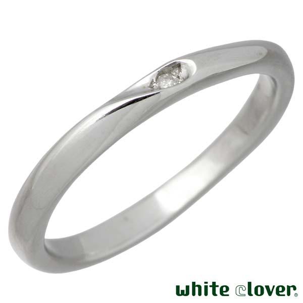 white clover【ホワイトクローバー】 リング 指輪 金属アレルギー対応 シェア ハート ステンレス 7~30号 ダイヤモンド 誕生石 刻印可能 アレルギーフリー 4SUR102L-RD