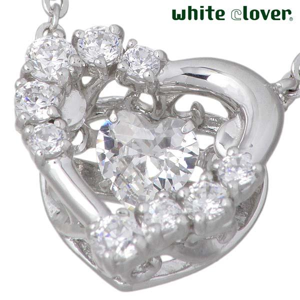 ホワイトクローバー white clover スウィングストーン ハート シルバー ネックレス アクセサリー キュービック シルバー925 スターリングシルバー WCFP005RD7gbYf6y