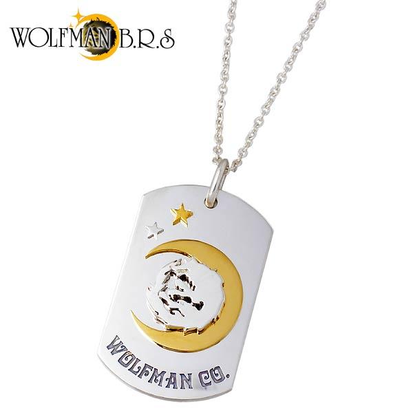 WOLFMAN B.R.S【ウルフマン B.R.S】 ムーンスター ドッグタグ シルバー ネックレス アクセサリー シルバー925 スターリングシルバー WO-P-119