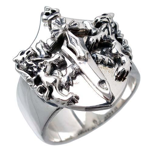 WOLFMAN B.R.S【ウルフマン B.R.S】 ケルティック ウルフ シルバー リング 指輪 シルバーアクセサリー シルバー925 WO-R-026