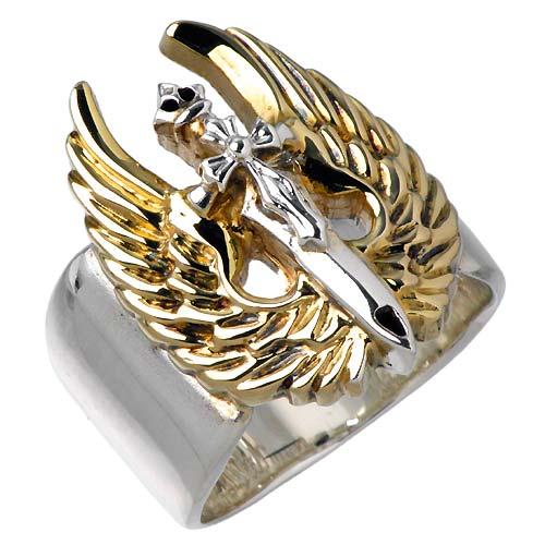 WOLFMAN B.R.S【ウルフマン B.R.S】 セイクリッド エンジェル シルバー リング 指輪 シルバーアクセサリー シルバー925 WO-R-033G