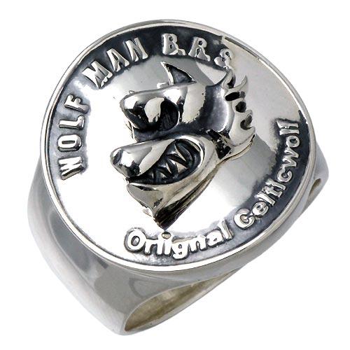 WOLFMAN B.R.S【ウルフマン B.R.S】 ウォー ウルフ コイン シルバー リング 指輪 シルバーアクセサリー シルバー925 WO-R-034