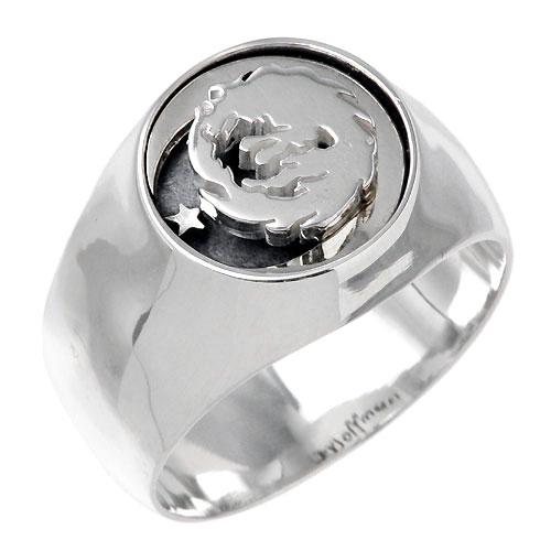 WOLFMAN B.R.S【ウルフマン B.R.S】 ムーンスター シルバー リング 指輪 アクセサリー シルバー925 スターリングシルバー WO-R-047