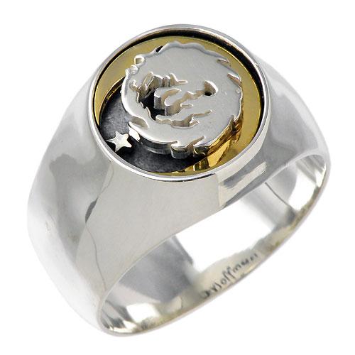WOLFMAN B.R.S【ウルフマン B.R.S】 ムーンスター シルバー リングG 指輪 シルバーアクセサリー シルバー925 WO-R-047G