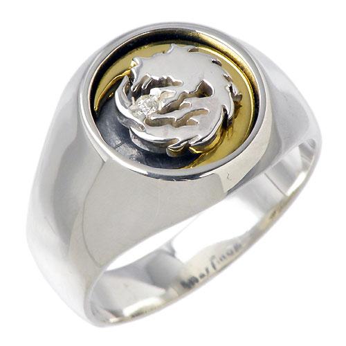 WOLFMAN B.R.S【ウルフマン B.R.S】 ムーン ウルフ シルバー リングG 指輪 アクセサリー シルバー925 スターリングシルバー WO-R-048G