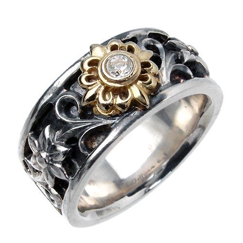 WOLFMAN B.R.S【ウルフマン B.R.S】 ハヤト シルバー リングW ストーン 指輪 アクセサリー シルバー925 スターリングシルバー WO-R-051G