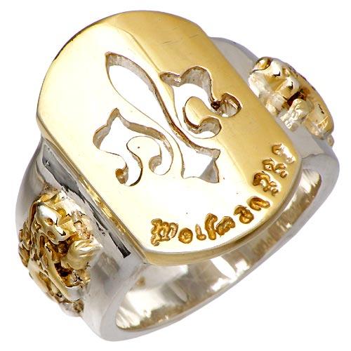 WOLFMAN B.R.S【ウルフマン B.R.S】 セイント フレア シルバー リングG 指輪 シルバーアクセサリー シルバー925 WO-R-029G