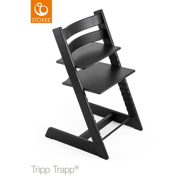 トリップトラップ オーク ブラック|ハイチェア|Stokke Tripp Trapp Chair 【送料無料】★