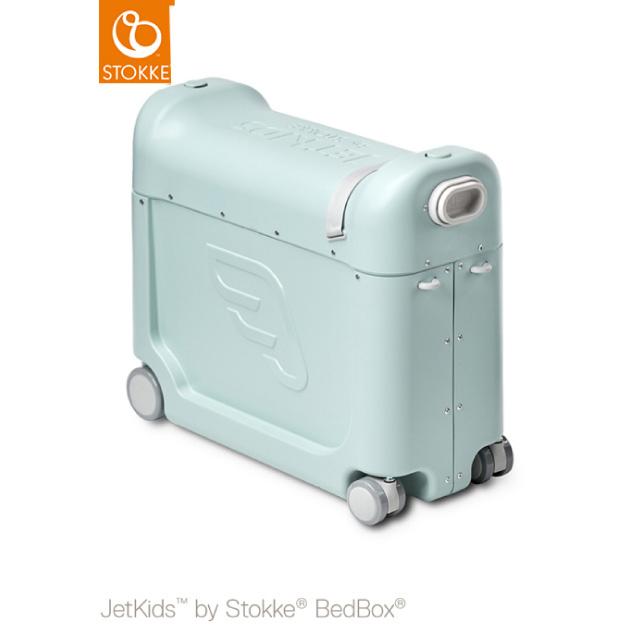 【ストッケ正規品2年保証付】STOKKE JETKIDS (ストッケ ジェットキッズ) ベッドボックス グリーン|子供用キャリーケース スーツケース ライドオン 機内持ち込み