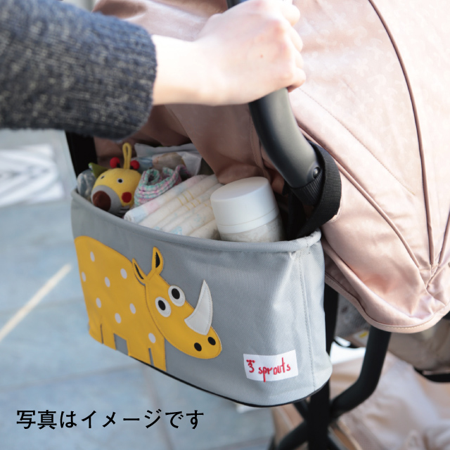 ☆스트로라오가나이자 3 sprouts(스리스프라우트) 라쿤 너구리|외출 상품 유모차용 가방 수납 ★