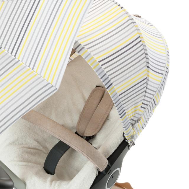 Stokke Xplory summer Kit grew lemon stripes | stroller sunshade cover | Stokke® authorized sale store ★
