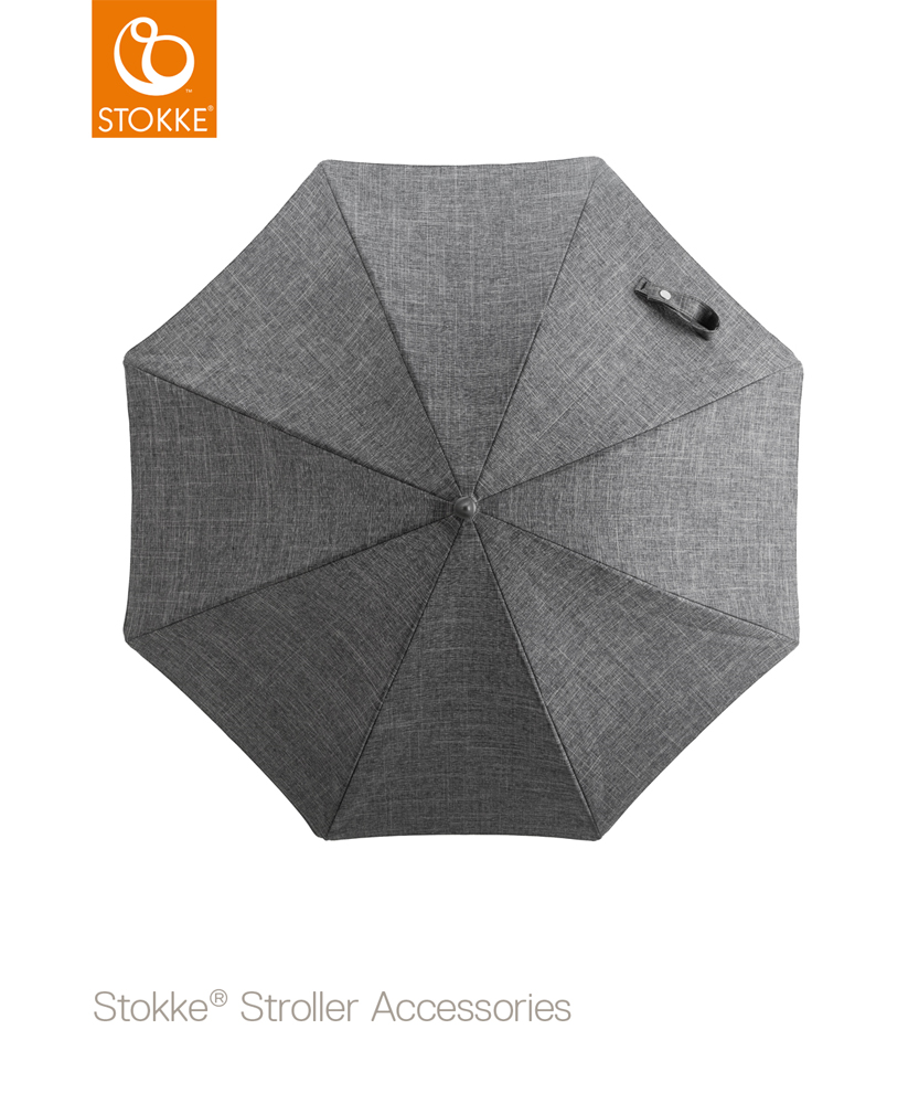Stokke stroller parasol black melange | stroller sunshade umbrella | authorized STOKKE