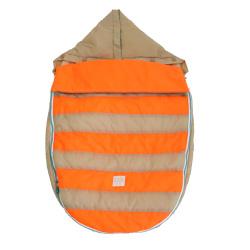 【取寄品】7AMENFANT(セブンエイエムアンファン) Bee Pod ベビーカーフットマフ Beige/Neon Orange 6-18M|フットマフ