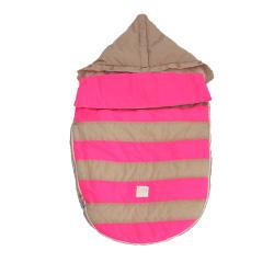 【取寄品】7AMENFANT(セブンエイエムアンファン) Bee Pod ベビーカーフットマフ Beige/Neon Pink 6-18M|フットマフ 【送料無料】★