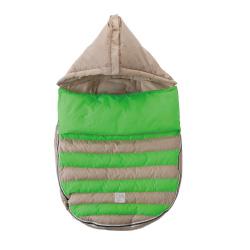 【取寄品】7AMENFANT(セブンエイエムアンファン) Bee Pod ベビーカーフットマフ Beige/Neon Green18-36M|フットマフ