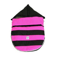【取寄品】7AMENFANT(セブンエイエムアンファン) Bee Pod ベビーカーフットマフ Black/Neon Pink 6-18M【送料無料】★