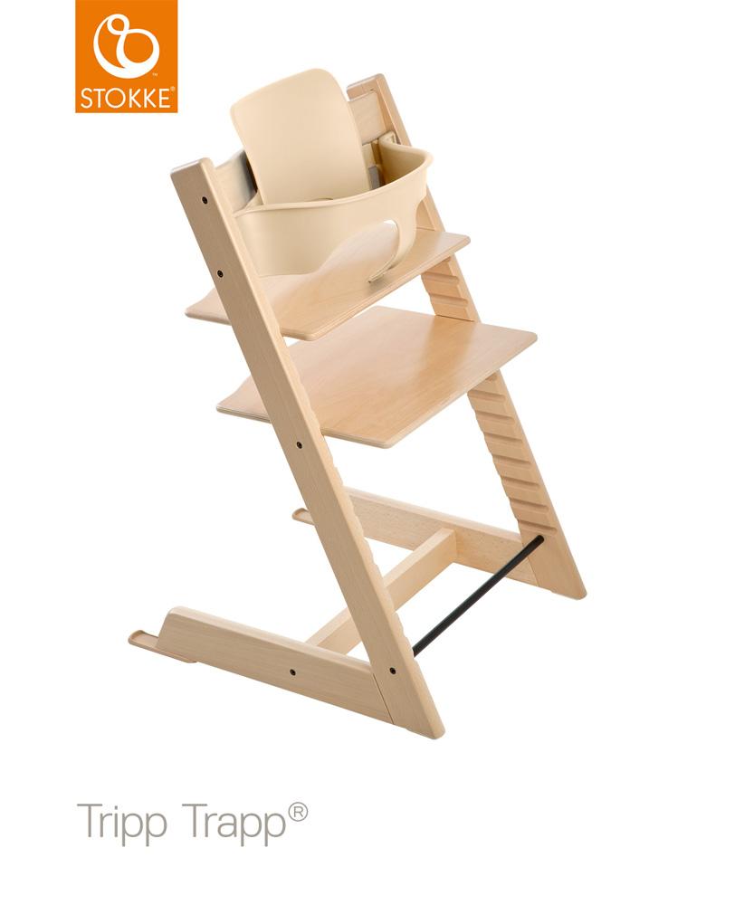 【セット】【ストッケ正規販売店7年保証】トリップトラップ チェア【ナチュラル】+選べるベビーセット|ハイチェア|Stokke Tripp Trapp Chair