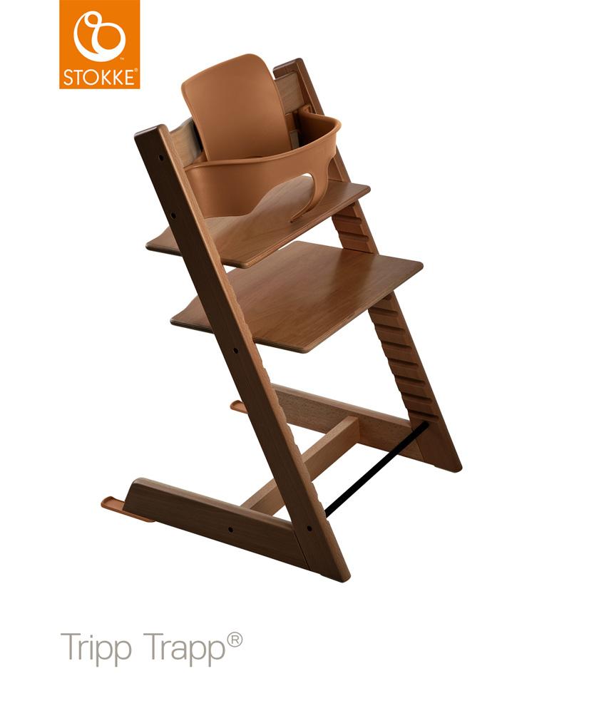 【セット】【ストッケ正規販売店】トリップトラップ チェア【ウォールナットブラウン】+選べるベビーセット|ハイチェア|Stokke Tripp Trapp Chair【送料無料】★