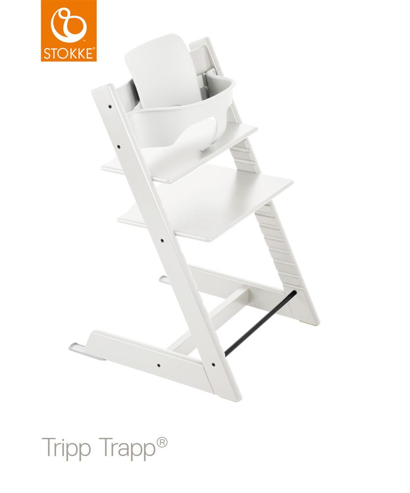 【セット】【ストッケ正規販売店7年保証】トリップトラップ チェア【ホワイト】+選べるベビーセット|ハイチェア|Stokke Tripp Trapp Chair
