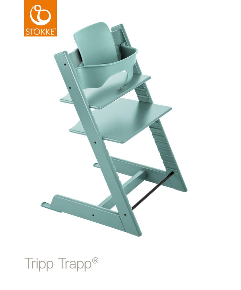 【セット】【ストッケ正規販売店】トリップトラップ チェア【アクアブルー】+選べるベビーセット|ハイチェア|Stokke Tripp Trapp Chair【送料無料】★