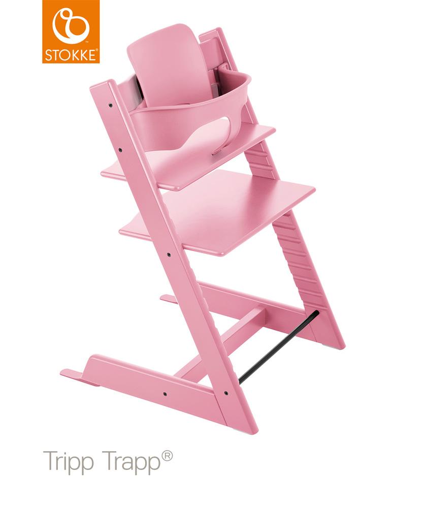 【セット】【ストッケ正規販売店】トリップトラップ チェア【ソフトピンク】+選べるベビーセット ハイチェア Stokke Tripp Trapp Chair【送料無料】★