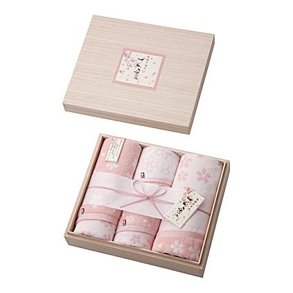 【送料無料】imabari towel(今治タオル)さくら染め木箱入りタオルセット【内祝い お返し お祝いなどのお返しに インスタ映え】