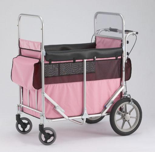 【本州のみ送料無料】ミニバス ピンク(ノーパンクタイヤ仕様)【メーカー直送 代引き不可】