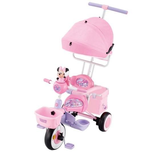 【送料無料】三輪車 タッチフォンカーゴ ディズニーキャラクターズ ピンク