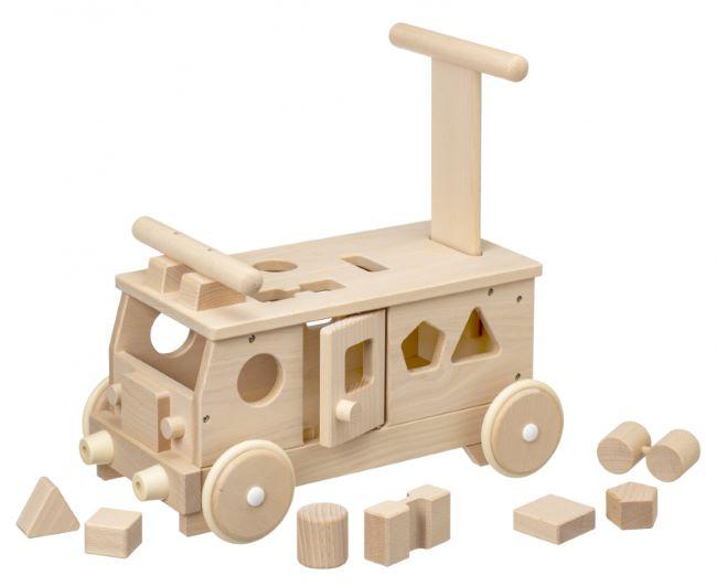 木のおもちゃ MOCCO 平和工業  W-029 森のパズルバス