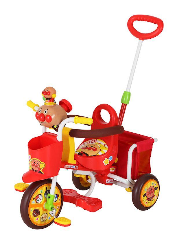 【送料無料】三輪車 わくわくアンパンマンごうピース2 レッド