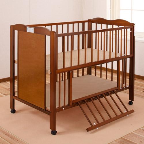 「ポム ST」 ベビーベッド ハイタイプ キンタロー 日本製 赤ちゃんベッド ベビーベット