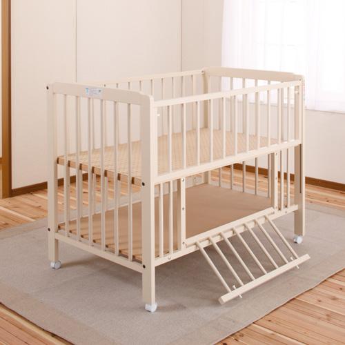 「ポム」 ベビーベッド ハイタイプ キンタロー 日本製 赤ちゃんベッド