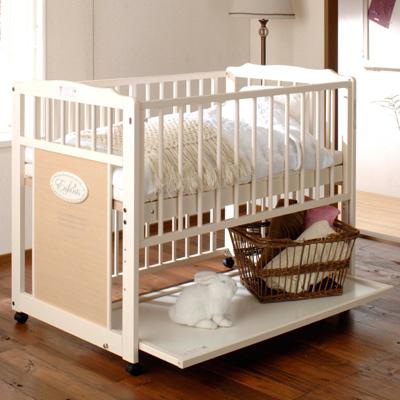 ベビーベッド 『アンファン エコ』 ハイタイプ キンタロー 木製 日本製 赤ちゃんベッド 【セール】 【大特価】
