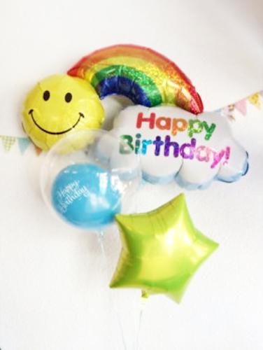 バルーン 記念日 サプライズ オリジナル 電報 装飾 プレゼント メッセージ 名入れ 文字入れ おしゃれ ギフト バースデー アート誕生日 出産祝い 開店祝い パーティ 風船 バルーン ギフト バースデーレインボーSet