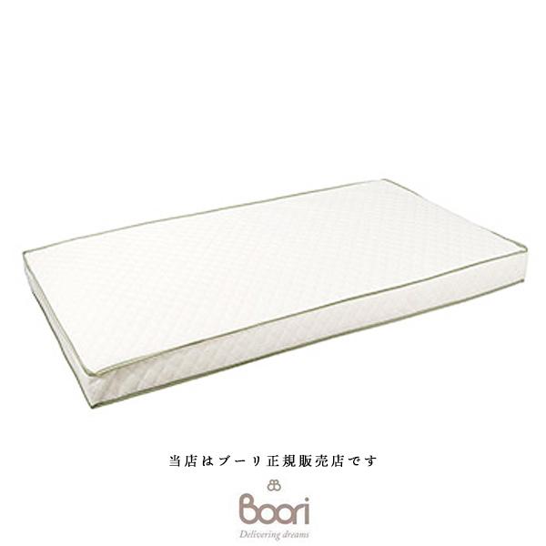 【BOORI(ブーリ)正規販売店】スプリング入りマットレスLサイズ(ホワイト)BU-BMAT(ベビーベッドマット)6歳まで対応(L133cm X W70cm)