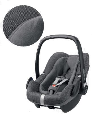 【Maxi-cosi マキシコシ・GMP正規販売店】Maxi-Cosi PebblePlus マキシコシ ペブルプラス (スパークリンググレイ)【新生児から使えるカーシート