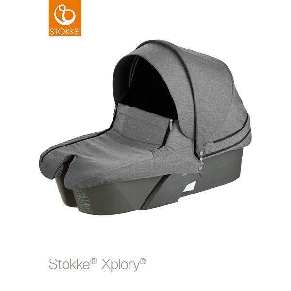 【STOKKEストッケ正規販売店】Stokke Xplory Carry Cot Completeストッケ エクスプローリー キャリーコット(ブラックメラーンジ)
