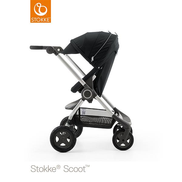【STOKKEストッケ正規販売店】Stokke Scoot2ストッケ 新スクート2セットベーシックキット(ブラック) キャノピー(ブラック)
