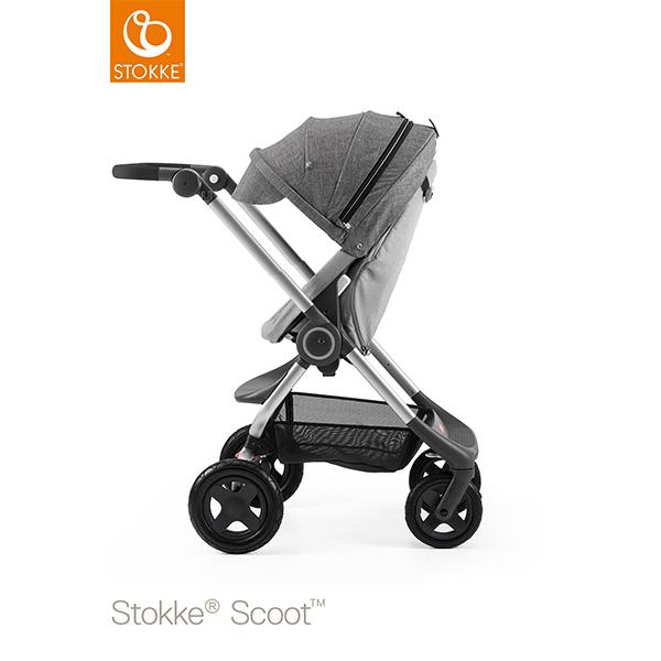 【STOKKEストッケ正規販売店】Stokke Scoot2ストッケ 新スクート2セットベーシックキット(グレーメラーンジ) キャノピー(ブラックメラーンジ)