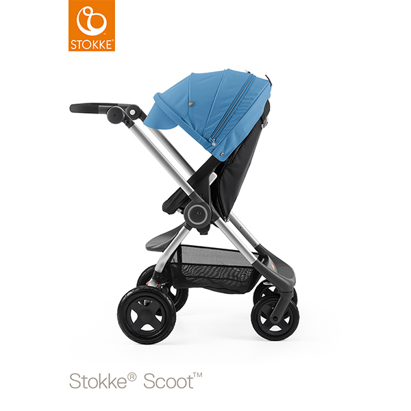 【STOKKEストッケ正規販売店】Stokke Scoot2ストッケ 新スクート2セットベーシックキット(ブラック) キャノピー(ブルー)