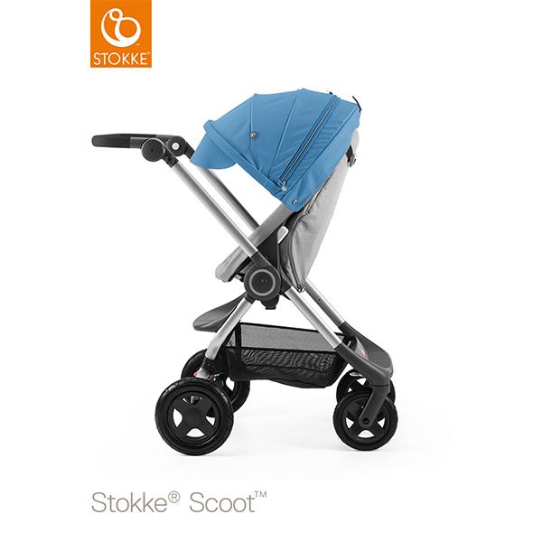 【STOKKEストッケ正規販売店】Stokke Scoot2ストッケ 新スクート2セットベーシックキット(グレーメラーンジ) キャノピー(ブルー)
