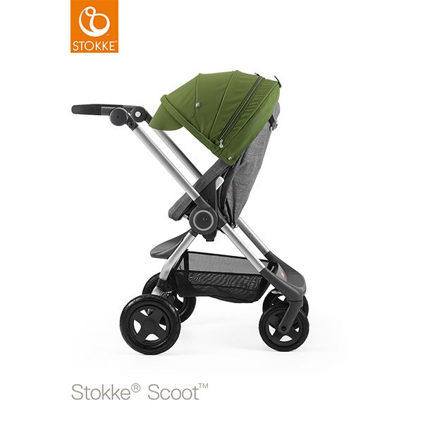 【STOKKEストッケ正規販売店】Stokke Scoot2ストッケ 新スクート2セットベーシックキット(ブラックメラーンジ) キャノピー(グリーン)